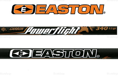12 x Easton Powerflight 340 Arrow Shafts, 340 spine Bow hunting shafts + inserts