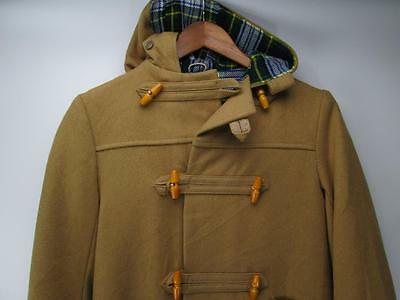 Vtg Forever Classic Hooded Wool Toggle Duffle Coat Brown Unisex England 10