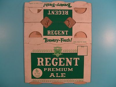 REGENT PREMIUM ALE 6 Pack Flat Top Can Carrier Carton BREWERY-FRESH!