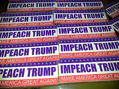 Impeach Trump *** Quality Vinyl Stickers *** 30 for $50 *** Help Our Country!
