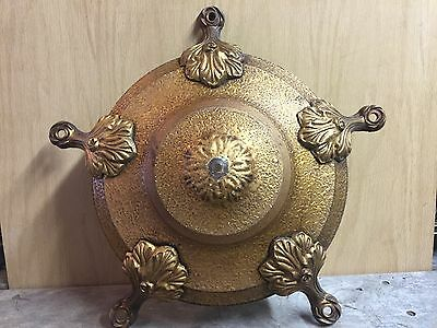 Antique Brass 5 Bulb Ceiling Hanging CHAIN Pan Light Chandelier Restore or PARTS