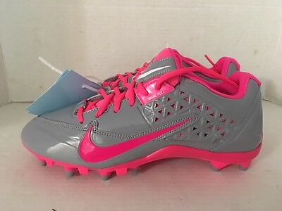 Nike Speedlax IV Lacrosse Cleats shoes 616300-006 ~ pink & gray womens size 12