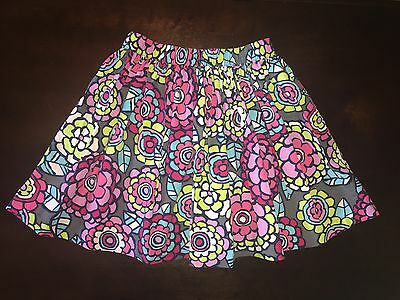Hanna Andersson vibrant floral print full twirly skirt size 120, 6-8 years
