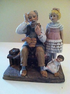 """Norman Rockwell """"The Cobbler"""" Figurine 1979"""