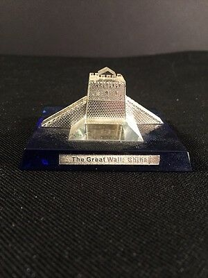 Minature Crystal The Great Wall Of China Empress Casino Promo collectors Series