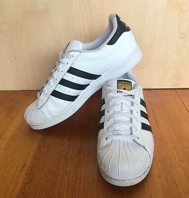 adidas Originals Superstar Shell Toes size 11 (White and Black)