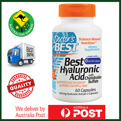 Doctor's Best Hyaluronic Acid 60 Capsules plus Chondroitin Pure Serum CLEARANCE