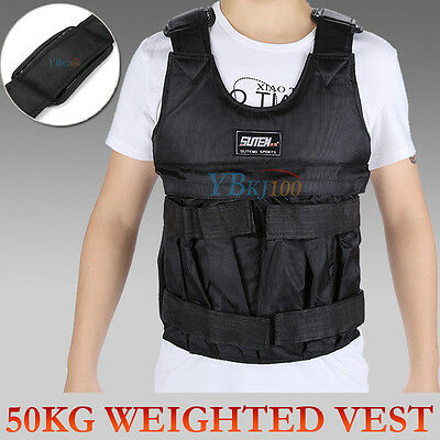 SALE! 50KG Adjustable Workout Weighted Vest Exercise Gym Training Fitness Sport