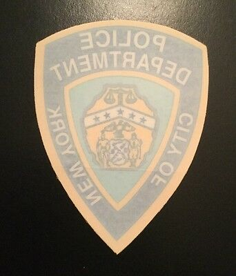 NY - NYC,  NYPD Police InWindshield Decal  ( Purchasing 1 Decal Only