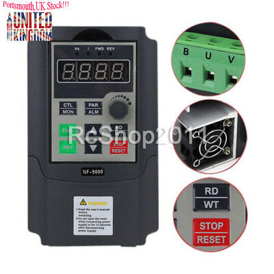 1.5KW NF-9000 Single Phase Input To 3 Phase Output Frequency Converter 2HP VFD