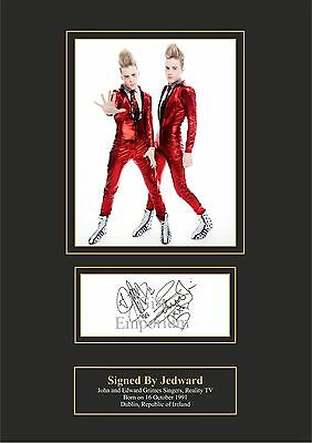 Jedward Signed Printed Autograph A4