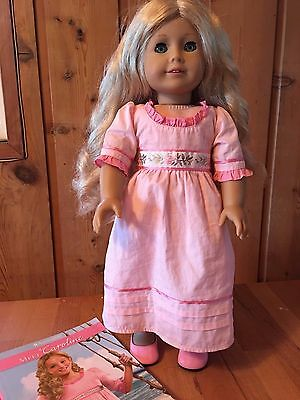 American Girl Retired Caroline Doll with Book HISTORICAL DRESS SHOES MEET