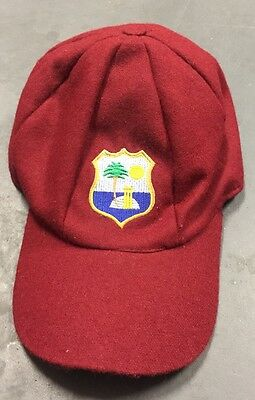 Rare West Indies Baggy Maroon Test Cricket Cap Hat - Free Post in Aust