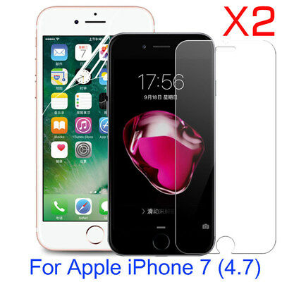 2X 9H Tempered Glass Soft PET Screen Protector Film For Apple iPhone 8 iPhone 7