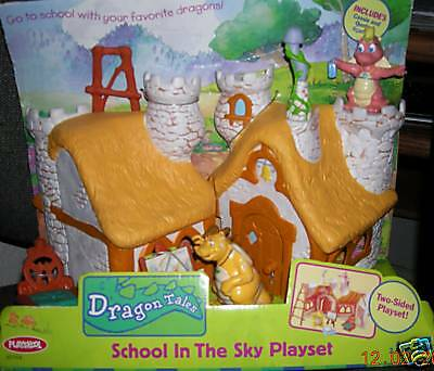 New Dragon Tales School In The Sky Playset W/ Figures
