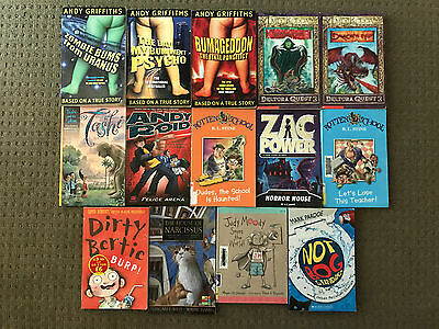 Bulk Lot Assorted Kids Books x 14 - Deltora Quest, Andy Griffiths, R.L. Stine