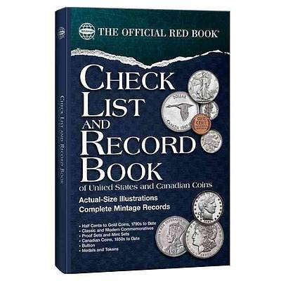 Check List and Record Book of United States & Canadian Coins - Official Red Book