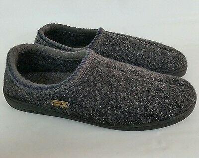 Haflinger Men's Gray Wool Hard Sole Slippers Shoes Size 45