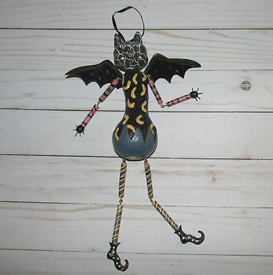 Unique Halloween BAT Hanging Painted Jointed Arms Legs Poseable Figure Decor