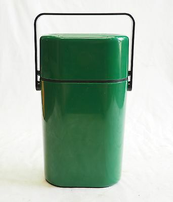 Vintage Green Decor Wine Chiller Holds 2 Bottles For Parties Picnics etc Retro