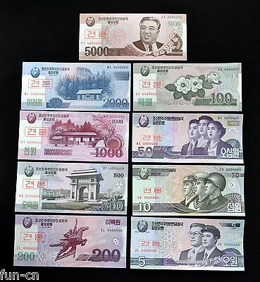 Korea 5 - 5000 Won 2002. UNC 9pcs