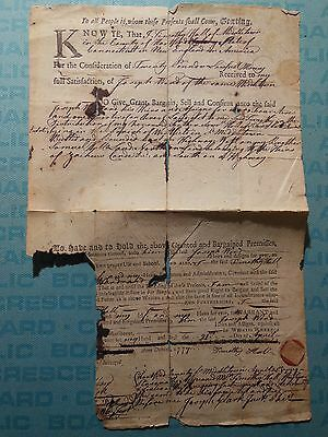 Land Deed, Middletown, Hartford County, CT, 1777, Timothy Hall, Joseph Ward