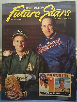 Beckett Focus On Future Stars #1 (May 1991) VF/NM Nolan Ryan/Todd Van Poppel