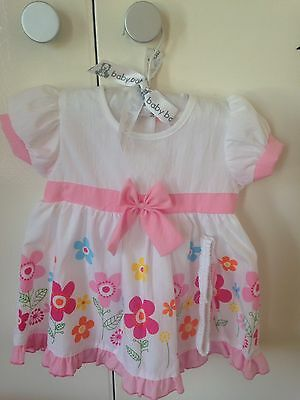 Baby Girl Dress With Headband And Bloomers, 6-9 Months, 0