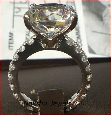 3ct Off White Loose Moissanite Round Unique Engagement Ring 925 Sterling Silver