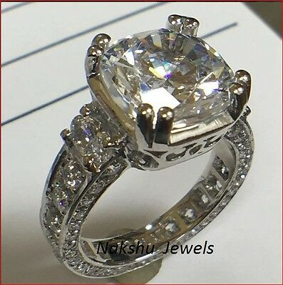2 ct off white yellow moissanite solitaire engagement ring .925 sterling silver