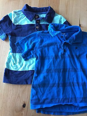 Lot of 2 boys shirts size 4 4T - Hurley and Old Navy