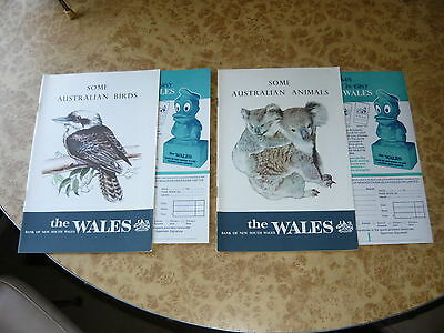 2x The Wales Bank of New South Wales 1960's Booklet Australian Animals & Birds