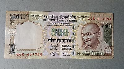 India Indian Rupees Rs. 500 Bank Currency Note 2
