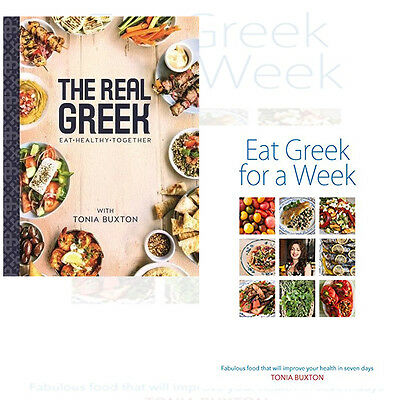 Tonia Buxton Collection 2 Books Set (The Real Greek & Eat Greek for a Week)New