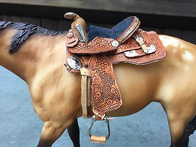 Model Horse Traditional Scale Western Saddle By Toots Geyer USA