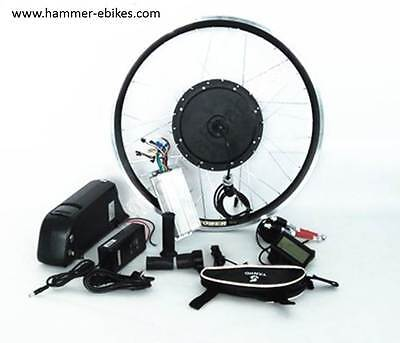 48V 1000W Electric Bicycle e-Bike Rear Wheel Conversion Kit with 14Ah Battery