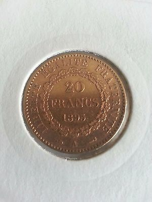 French Gold Coin  20 Francs 1895