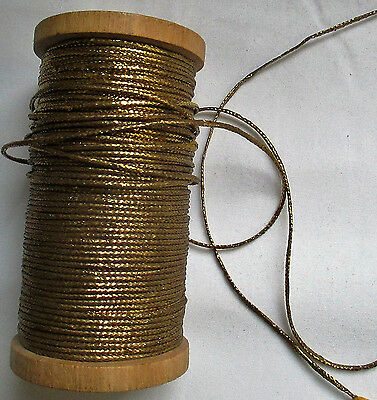 Vintage Gold Metallic Thread/String Thick Wide French