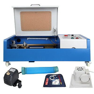 300x200mm USB Port 40W CO2 Laser Engraving Cutting Engraver Cutter Machine