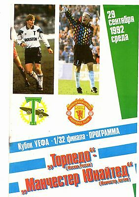 1992-1993 Torpedo Moscow v Manchester United  Cup Winners Cup Version 3