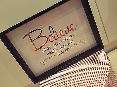 Inspirational quote wall frame, home decor, homeware, gift, shabby chic