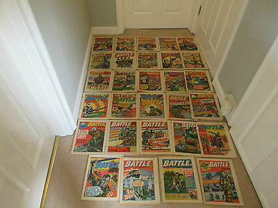 Battle Picture Weekly & Valiant Comics X 29 From 1977- Good Condition