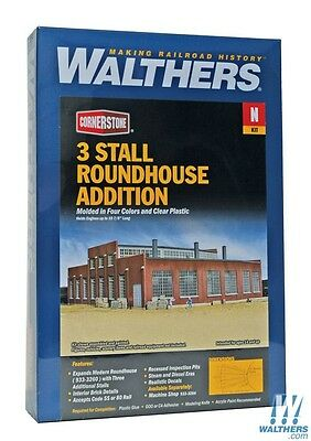 N Scale Walthers 933-3261 Modern RoundHouse 3 Add-on Stalls