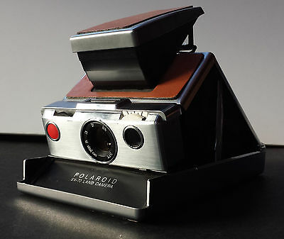 Vintage Polaroid SX-70 Land Camera Alpha 1 Silver Tested and Working w/ Case