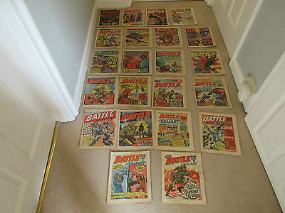 Battle Picture Weekly & Valiant Comics X 22 From 1976- Good Condition
