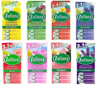 Zoflora 3 in 1 Action Antibacterial Disinfectant Cleaner Odour Kills Germs 56ml