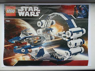 LEGO STAR WARS INSTRUCTION MANUAL 7661-1: Jedi Starfighter with Hyperdrive Boost