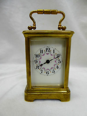 Miniature antique French carriage clock