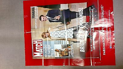 collector affiche paris match grand format EMMANUEL MACRON avril 2016