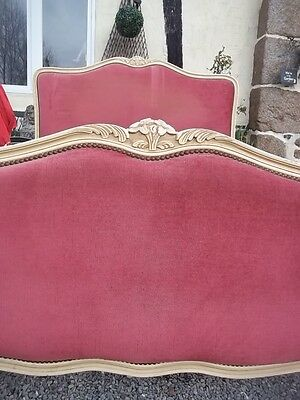 French Romantic Vintage Double Louis Xv Revival Corbele Bedstead